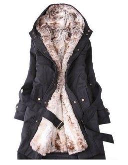 Faux Fur Lined Coat Womens