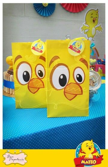 Pollito amarillito - Bolsas para sorpresas