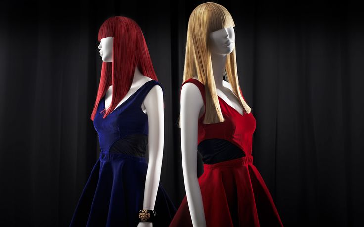 BUTTERFLY Collection by More Mannequins. Our beautiful female mannequins in a Kylie Minoque red dress. #HighFashion