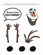Declarative image with free olaf printable