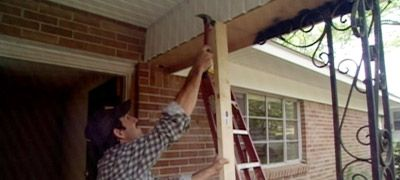 I am not a fan of the wrought-iron columns on some homes. It's a good look depending on the style of the house, but some could do without. Here's how to change them out is they're rusty or just not wanted.