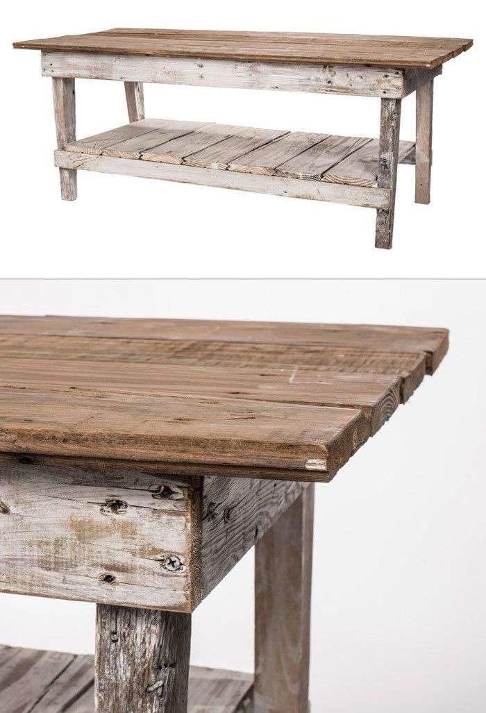 Fresh White Distressed Entry Table