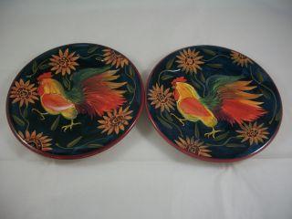 Certified International Susan Winget Rooster Salad Plate Black & 142 best Susan Winget Dinnerware images on Pinterest | Cutlery ...