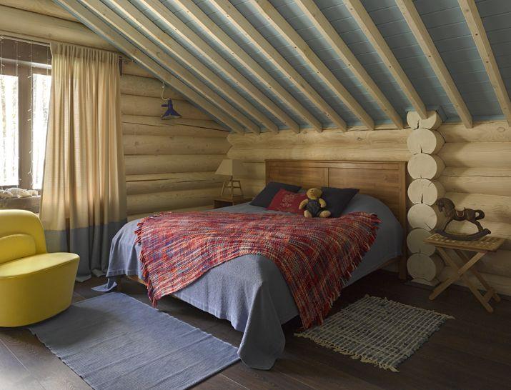 Детская комната в современном деревянном доме