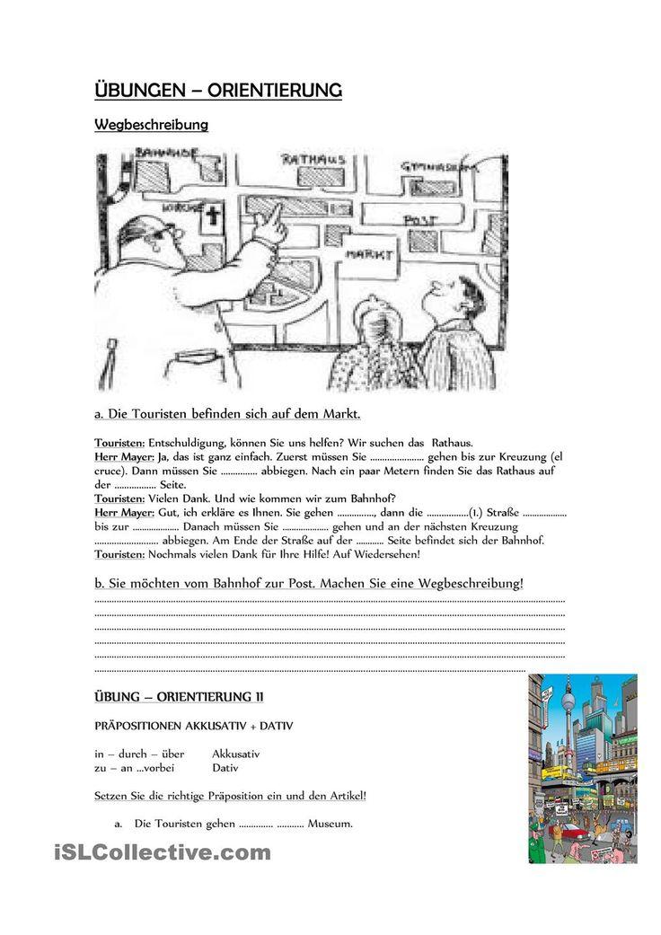 Wegbeschreibung und Orientierung in der Stadt