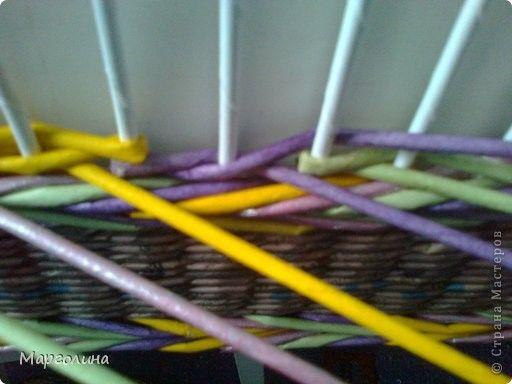 Поделка изделие Плетение Мк цветные ажурные колонны Бумага газетная фото 3
