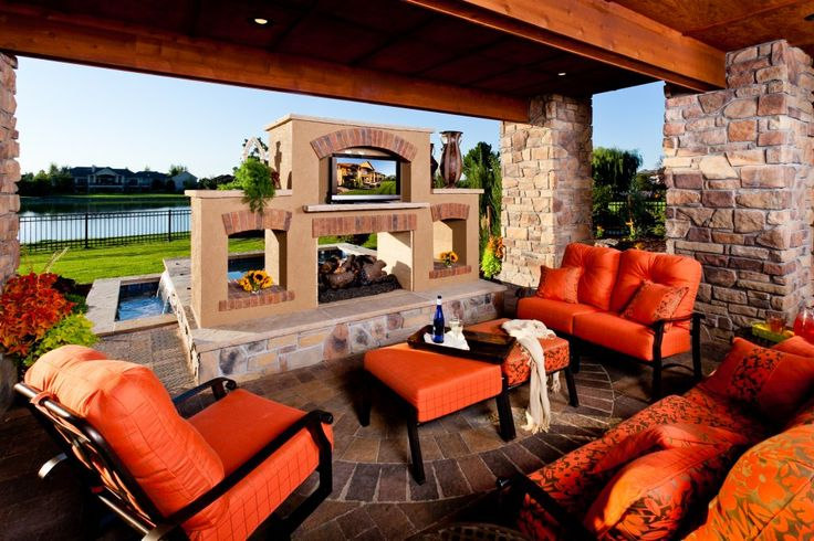 outdoor water feature below patio   Warming Trends - Outdoor Fire Pits, Fire Pit Safety & More: Landscape ...