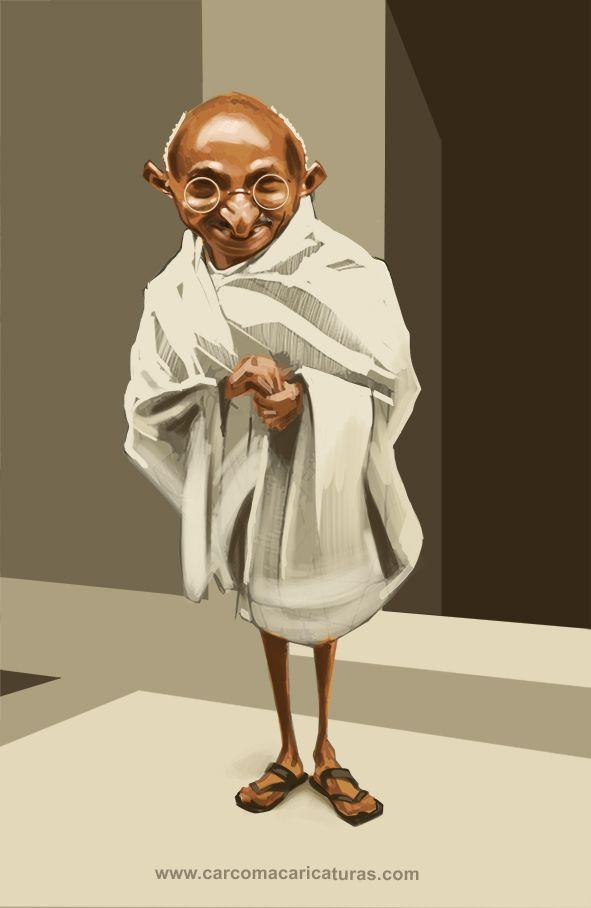 #carcoma #caricatura #mahatma #gandhi