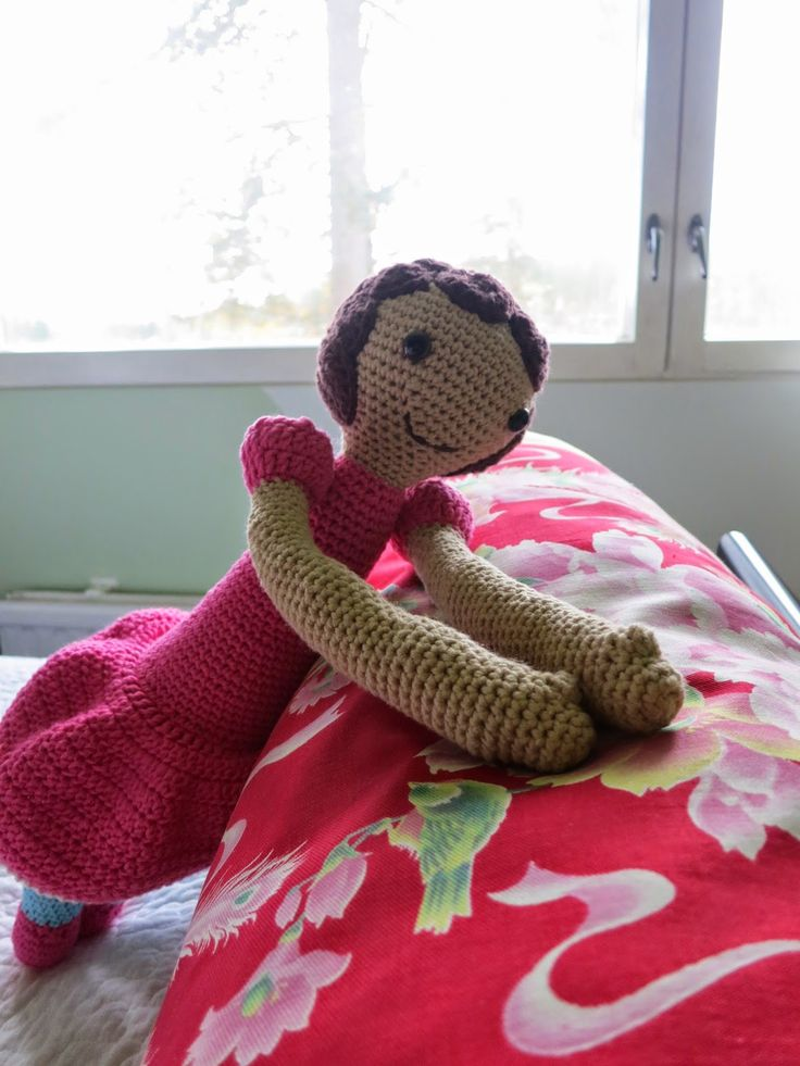 Doll made with lalylala's pattern (Bina the bear)