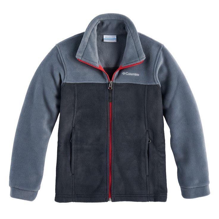 Boys 8-20 Columbia Fleece Flattop Ridge Jacket, Size: Medium, Grey (Charcoal)