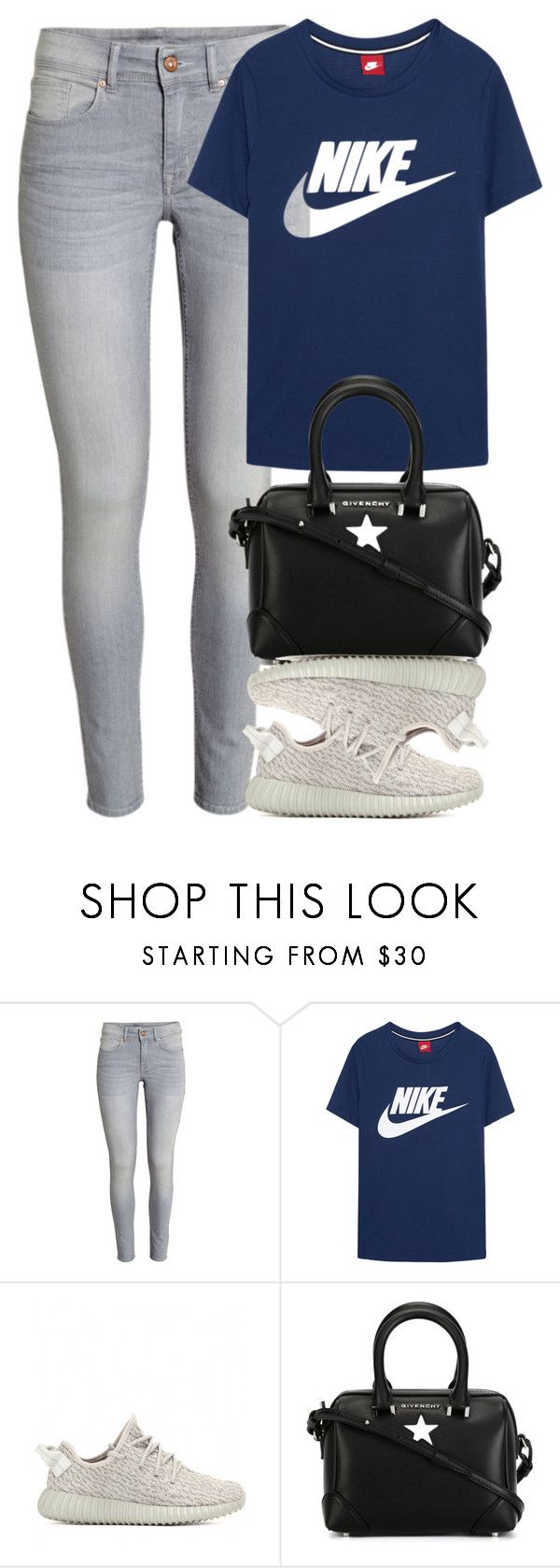 """Stylish Nike Tee"" by kydajenner on Polyvore featuring mode, NIKE, adidas Originals, Givenchy, nike en Yeezy"