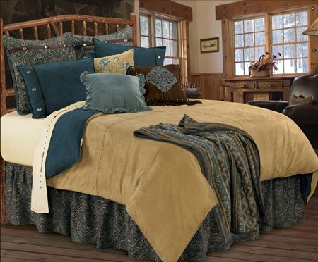 Bella vista western bedding duvet cover set with turquoise for Southwestern home decor