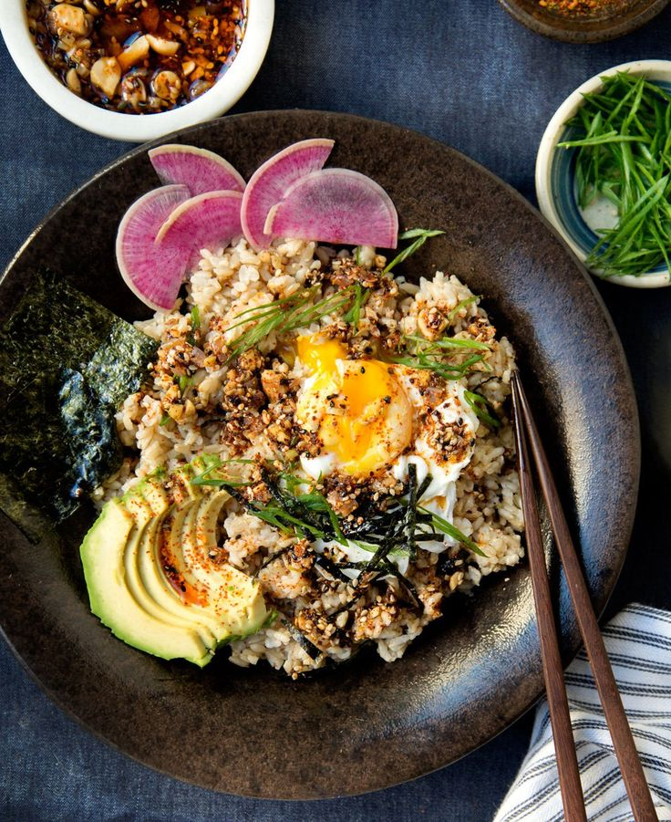 Brown Rice Bowl with Shichimi Togarashi-Spiced Sesame Chili Oil – WILD GREENS & SARDINES