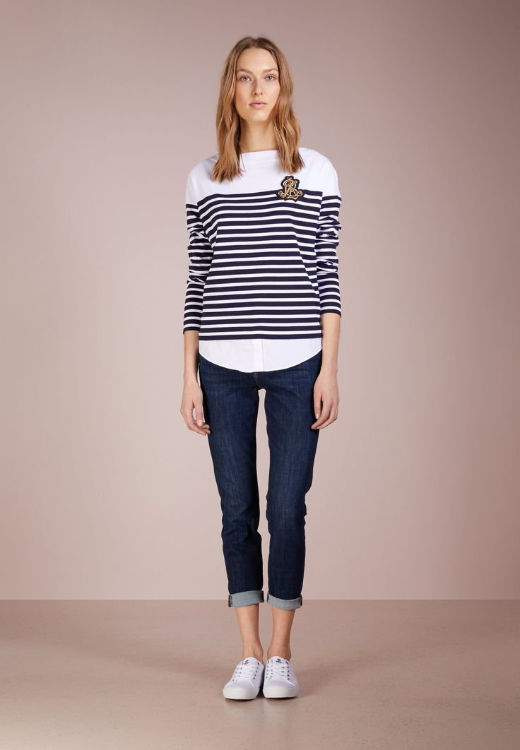 Lauren Ralph Lauren Camiseta manga larga - navy/white - Zalando.es