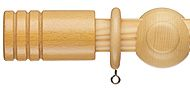 Regency Roma 30mm Curtain Pole Ribbed Barrel, Natural