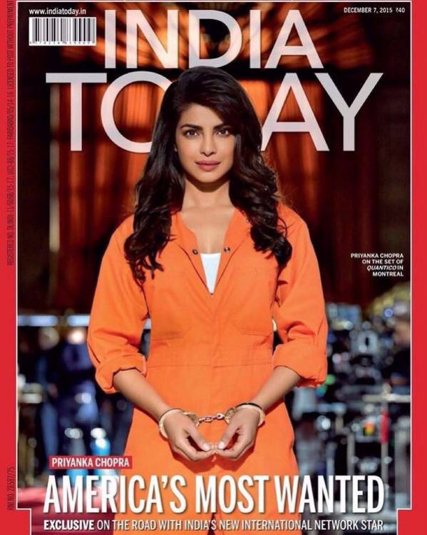 American's Most Wanted: Priyanka Chopra Covers #IndiaToday.