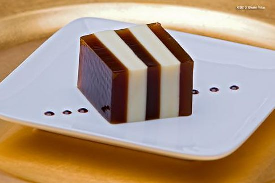 """In tea-loving Asia the dark bean is a favorite flavor for sweets, even  if they take liberties with what """"cake"""" is"""