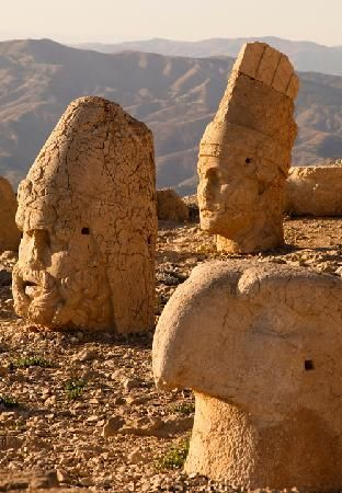 Nemrut Dagi, 1st cent. BC Mount Nemrut, Turkey Monument to Antiochus I, king of the Seleucid empire Notable for its inclusion of western Roman, as well as Middle eastern deities,( and animal guardian figures) Located at an elevation of 50m, the images face the direction of their respective origin