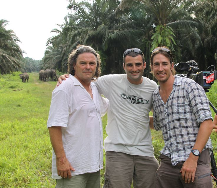 Flicking through our archives and came across this golden shot from our time in Borneo, Season Two. (A very young) Clint and the boys, between takes. Our travelling family...