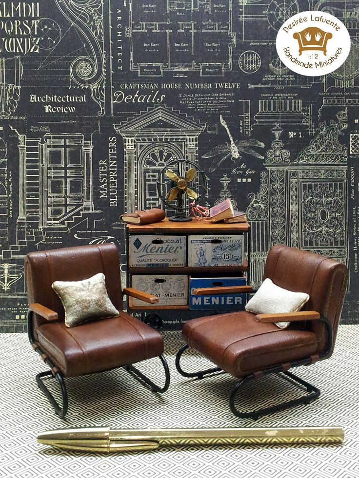 1 12 scale miniature chairs  Industrial Style. 231 best Modern Dollhouse images on Pinterest   Dollhouses  Modern