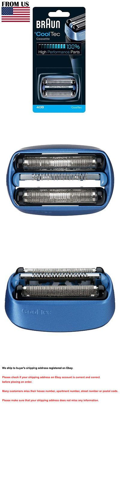 Shaver Parts and Accessories: 40B Braun Mens Shaver Cooltec Foil And Cutter Set Head Replacement Cassette -> BUY IT NOW ONLY: $30.2 on eBay!