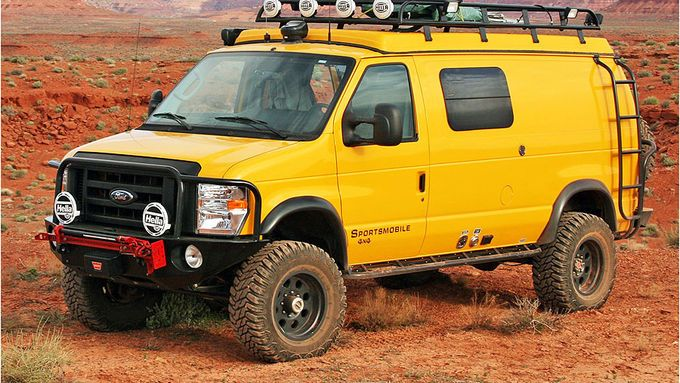 Sportsmobile 4x4 | Ford E-Series 4x4 Sportsmobile Custom Camper : Power-Camper: Monster ...