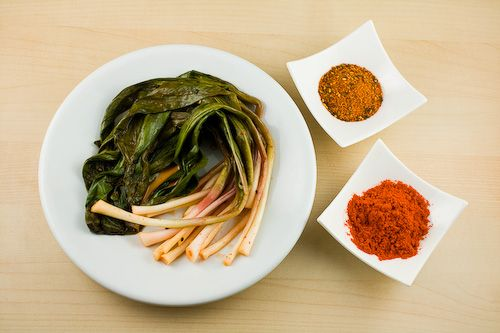 Pickled Ramps with Japanese and Korean Spices