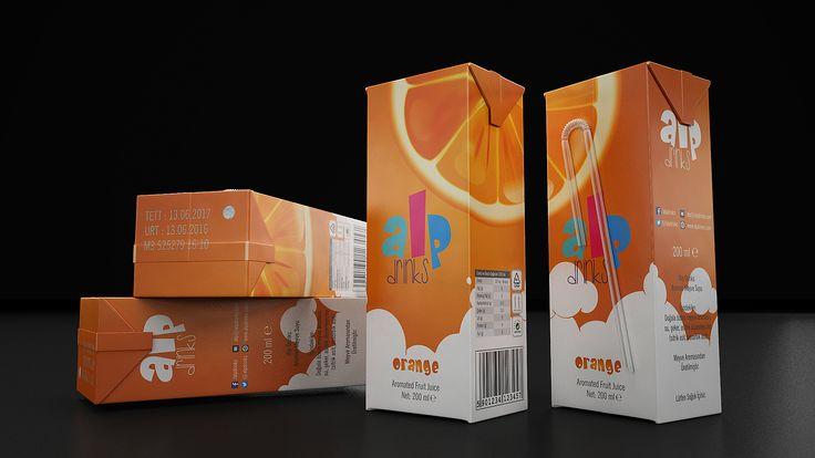 Alp Drinks Meyve Suyu Ambalaj Tasarımı Alp Drinks daha çok çocuklara özel hazırlanmış bir ihracat markası. Bu sebeple ambalaj tasarımında sempati ön planda.