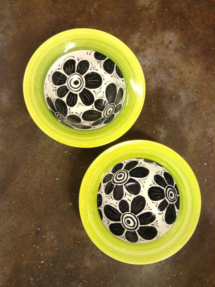 Ceramic painted bowls