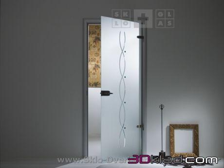 3d модель стеклянные двери Родник Sklo+Glas