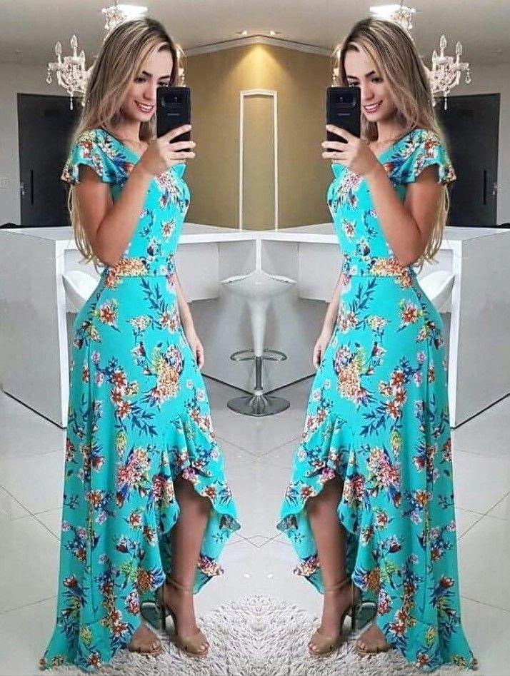 8d3b72316 Платья in 2019 | Vestidos longos estampados, Vestidos casuais, Look com  vestido