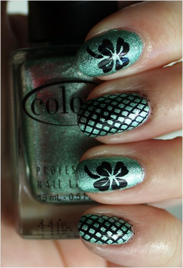 Lucky Shamrock Nail Art For St. Patrick's Day