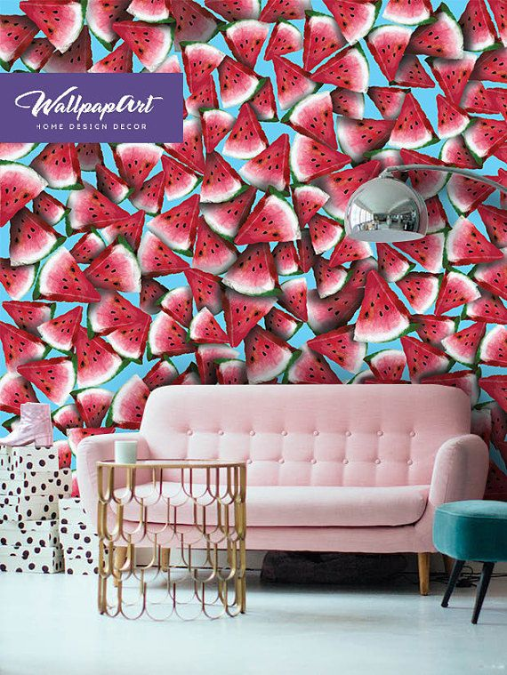 Removable Wallpaper Funky Jungle Self Adhesive Wall Mural Etsy Wall Murals Removable Wall Art Wall Murals Painted