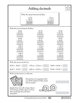 1000 ideas about adding decimals on pinterest adding decimals activity math fractions and. Black Bedroom Furniture Sets. Home Design Ideas