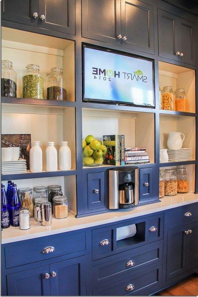35 Elegant Home Organization Ideas Elegant Home Homeorganization Home Kitchens Tv In Kitchen Kitchen Design Trends