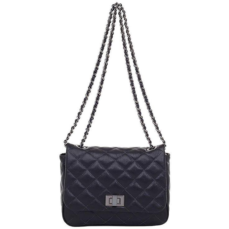 Bolsa Smartbag Couro Preto Correntes - 72151.17 (Smartbag - R$449,90)
