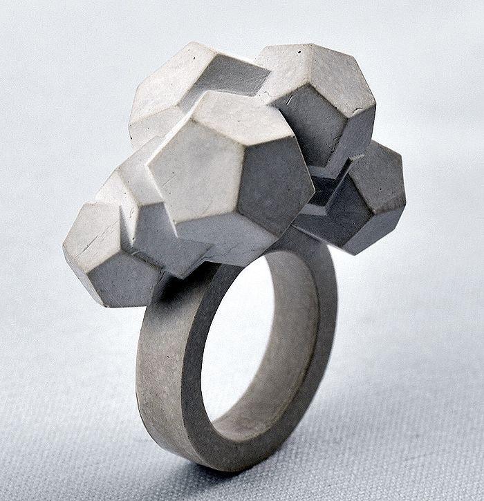 Mareike Kanafani - Brutalist Concrete Jewelry....x