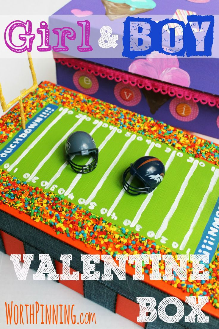 Valentine's Day in the Classroom- Valentine's Box for a boy and a girl #plaidcrafts