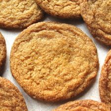 Buttersnaps - Ultra-thin, ultra-crisp — ultra-tasty! These mahogany-brown cookies feature the rich flavors of brown sugar and butter.