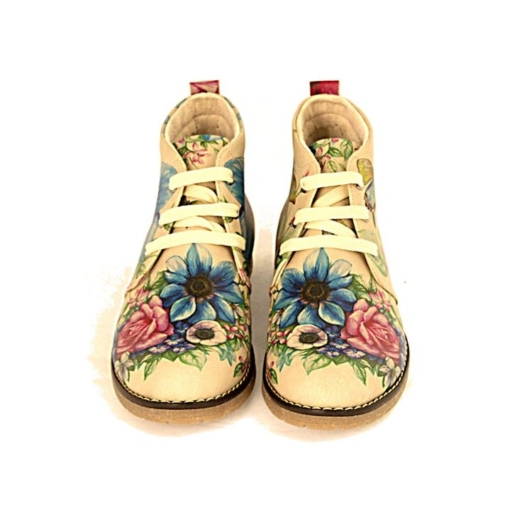 Ankle Boots Goby / flowers / fashionista / printed shoes