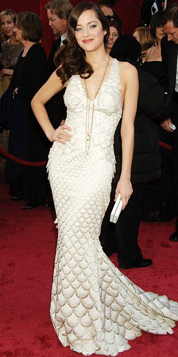 The Most Breathtaking Oscars Gowns - Marion Cotillard, 2008 from #InStyle