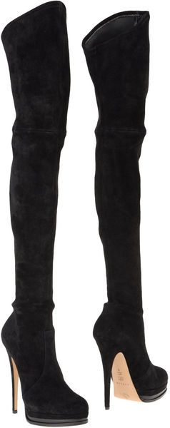 CASADEI High Heeled over the knee (fold over) Boots- Holy cow.... I need a pair. Don't care what color.