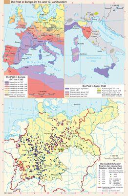 Die Pest in Europa im 14. und 17. Jahrhundert