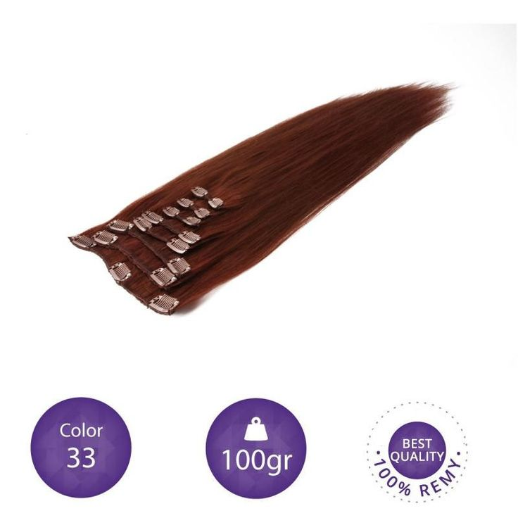 """Clip in Extensions 100% Human Remy natural hair. 55 cm long. 22"""" color 33 by peloxtensiones on Etsy"""