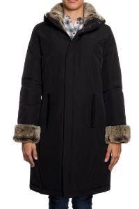 Woolrich luxe rocher femmes manteau noir Woolrich