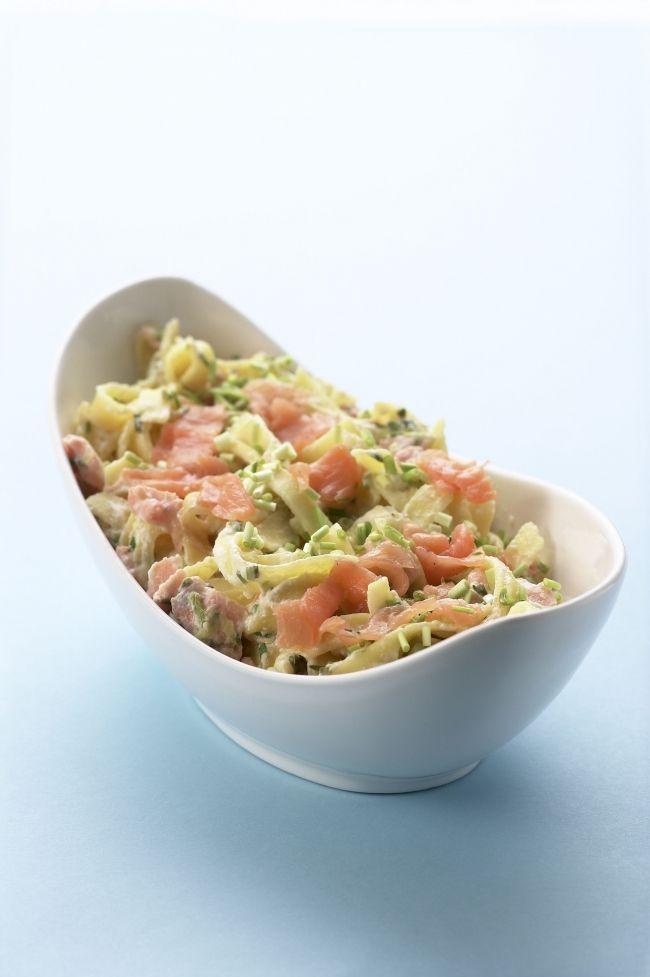 Pasta zalmroomsaus. Een heerlijk recept, gevonden op www.visopzijnbest.nl