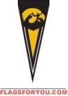"""Iowa Hawkeyes Yard Pennant 34"""" x 14"""""""