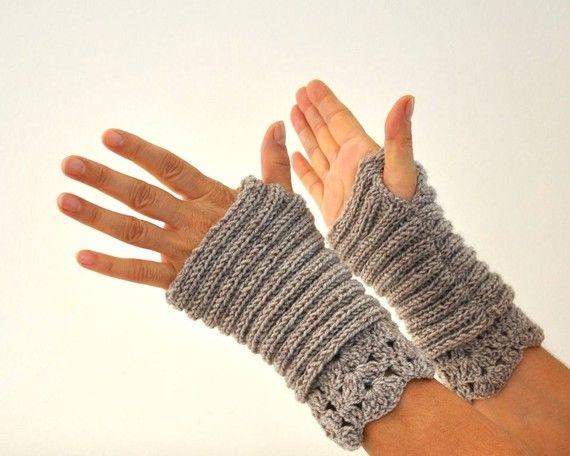 Camel Fingerless Knit Gloves Wrist Warmers Wool by reflectionsbyds, $28.00