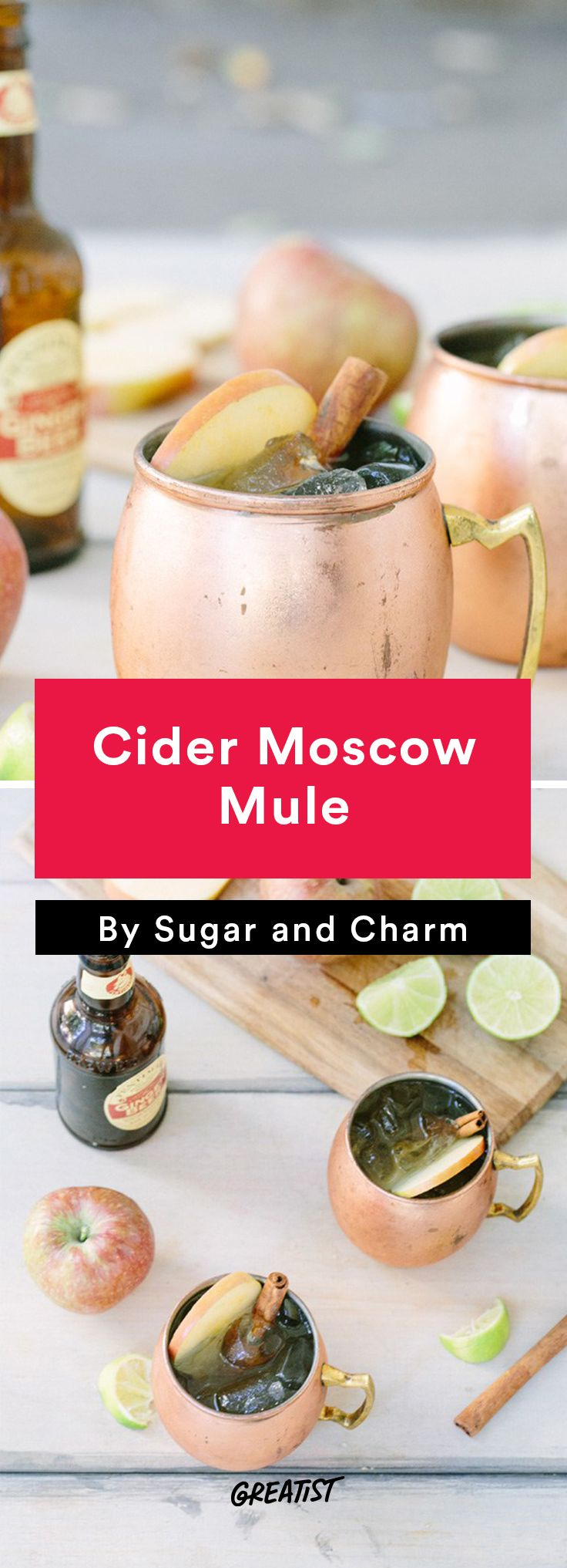 apple cocktails: Cider Moscow Mule