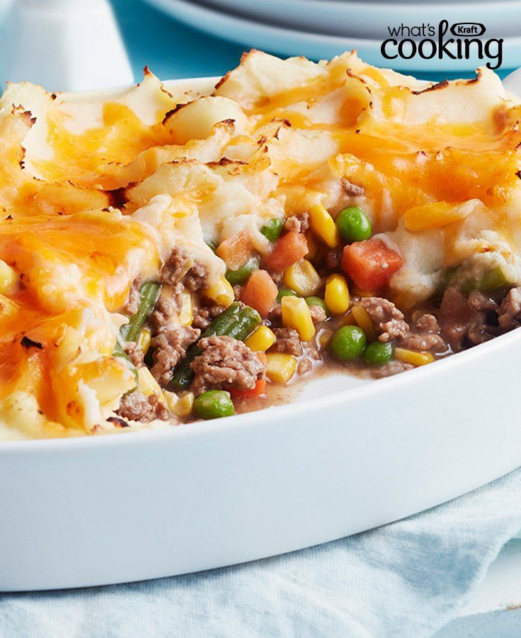Easy Shepherd S Pie Kraft What S Cooking Recipe Easy Delicious Dinners Casserole Side Dishes Beef Recipes